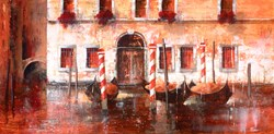 Facciata Venezia by Paolo Fedeli - Original Painting on Stretched Canvas sized 39x20 inches. Available from Whitewall Galleries